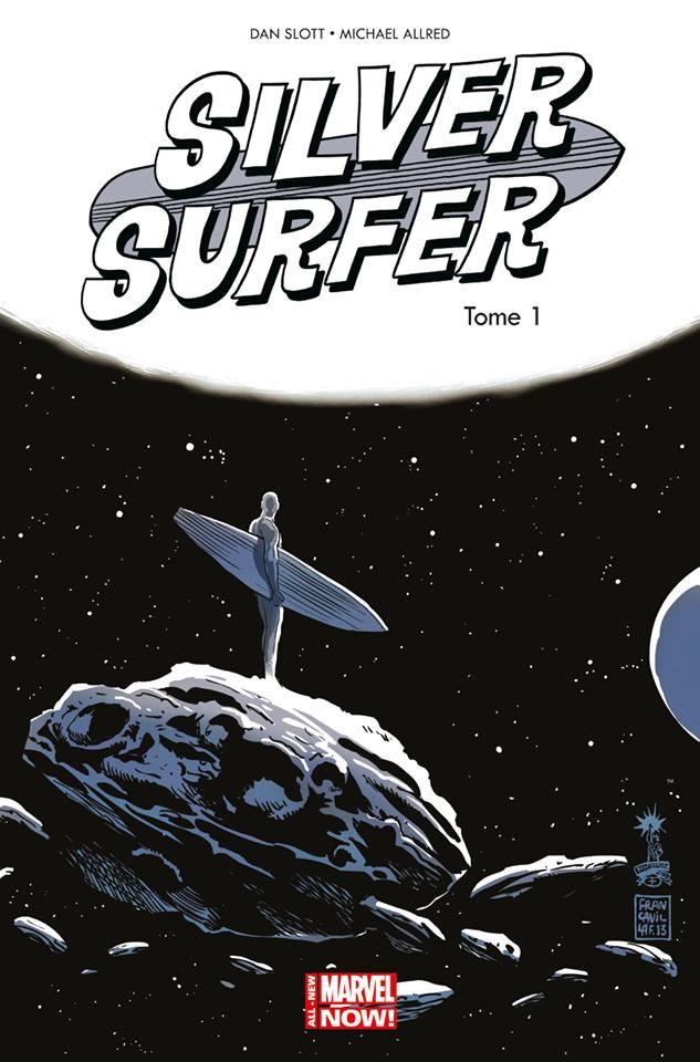 Couverture de Silver Surfer t.1 © 2014, Marvel Comics, 2015, Panini Comics, Dan Slott & Mike Allred