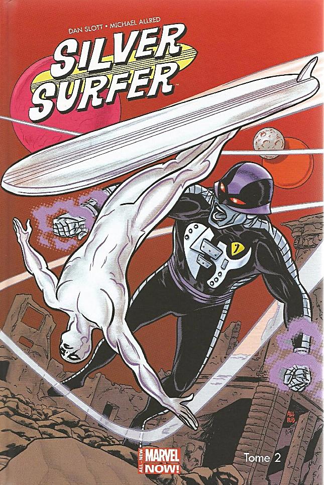 Couverture de Silver Surfer t.2 © 2014, Marvel Comics, 2015, Panini Comics, Dan Slott & Mike Allred
