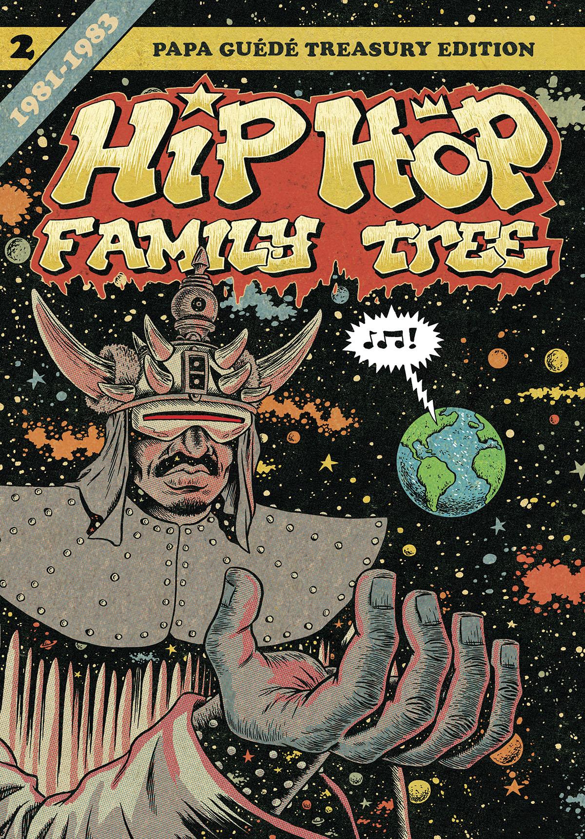 Couverture de Hip Hop Family Tree t.2 © 2012 Ed Piskor, 2013 Fantagraphics, 2016 Papa Guédé