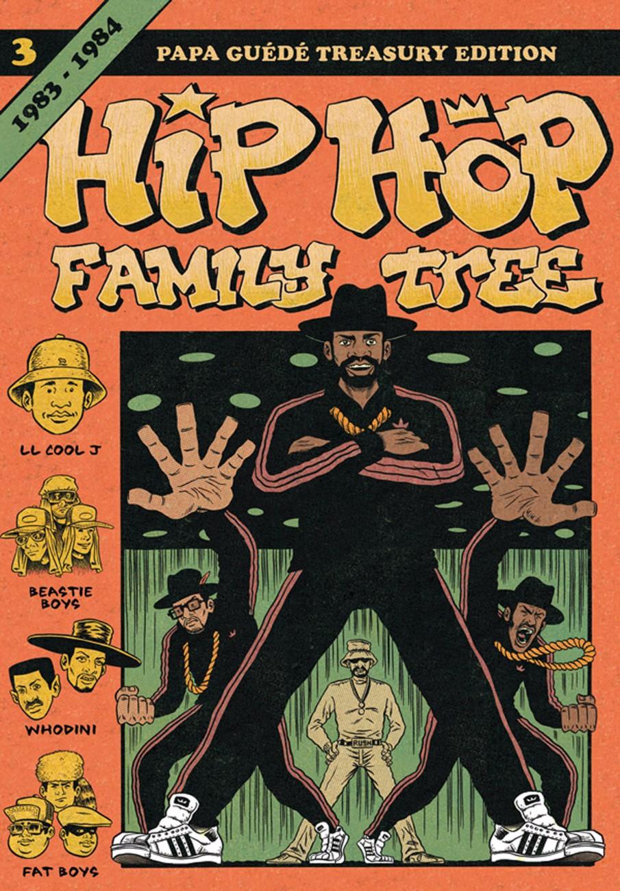 Couverture de Hip Hop Family Tree t.3 © 2012 Ed Piskor, 2013 Fantagraphics, 2016 Papa Guédé