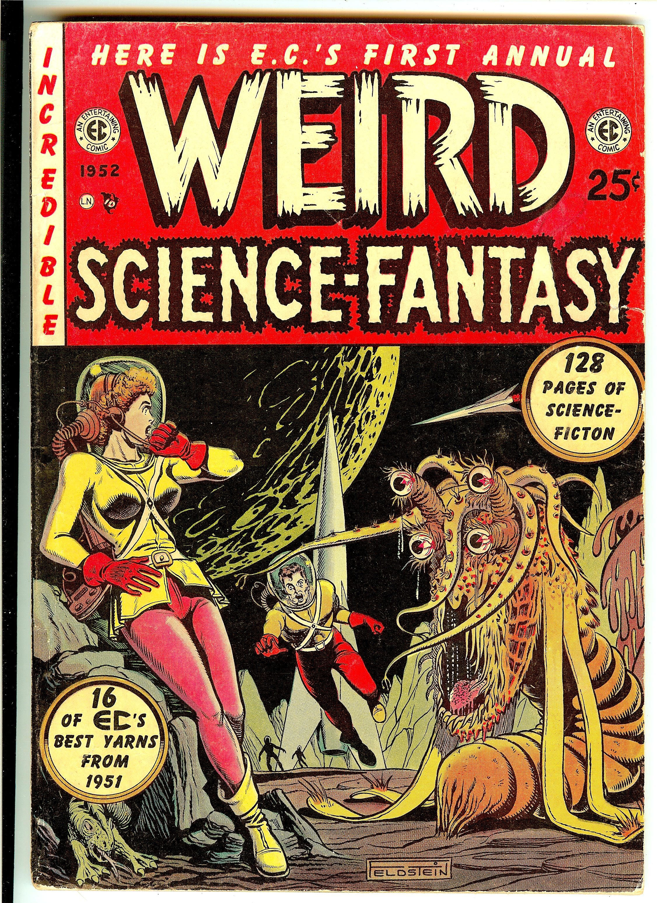 Couverture de Weird Science Fantasy Annual © 1950, EC Comics, William Gaines et Al Feldstein