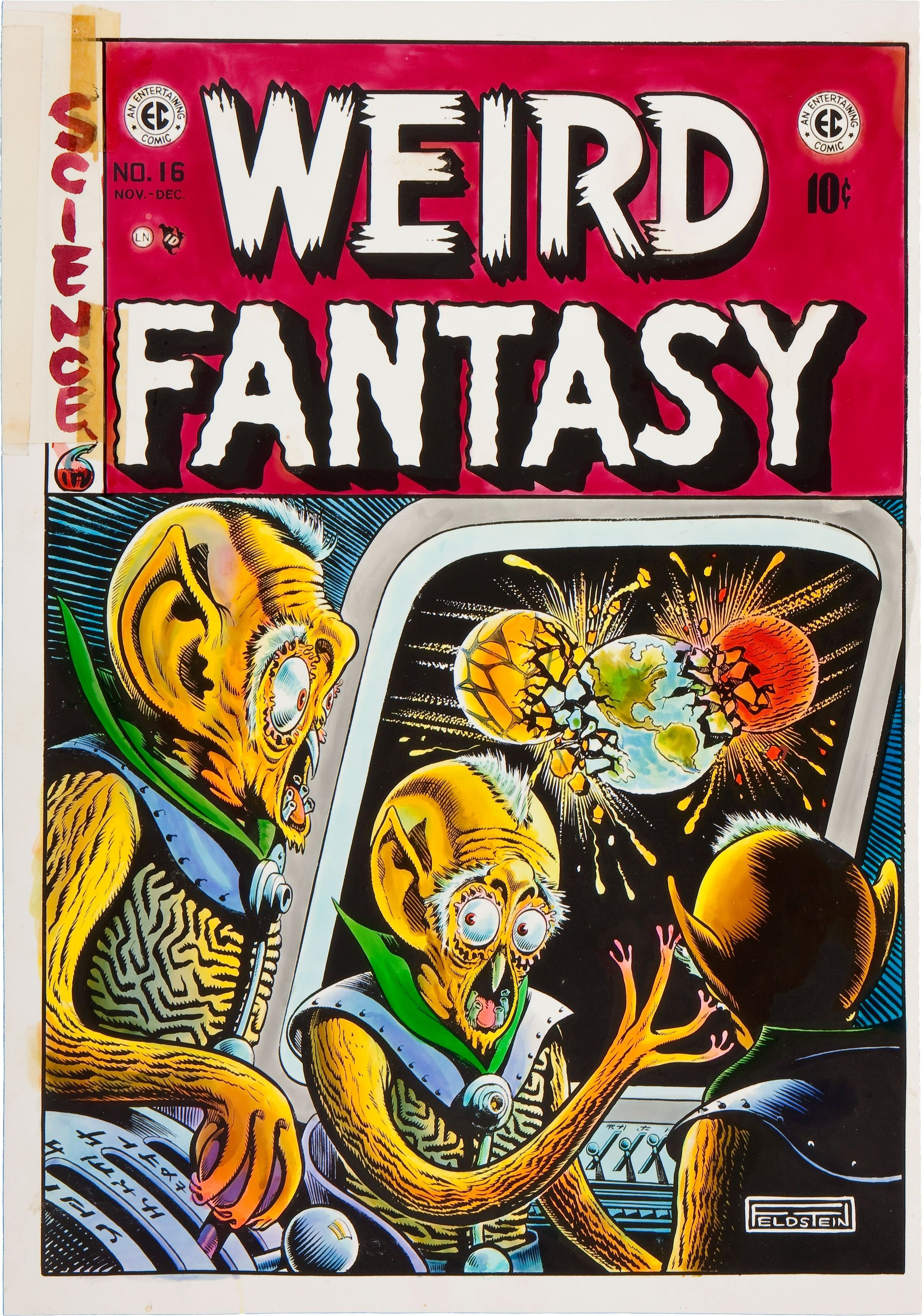 Couverture de Weird Fantasy n°16 © 1950, EC Comics, William Gaines et Al Feldstein