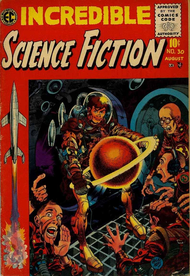 Couverture de Incredible Science Fiction n°30 © 1950, EC Comics, William Gaines et Al Feldstein