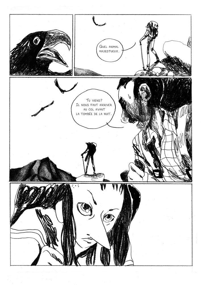 Planche n°7 issue de Sauvage ou la sagesse des pierres © 2016, Vide Cocagne, Thomas Gilbert